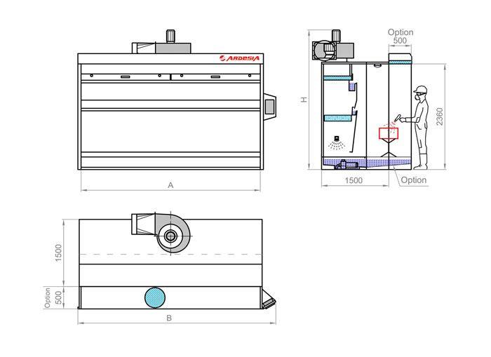 Schema tecnico Double by Ardesia