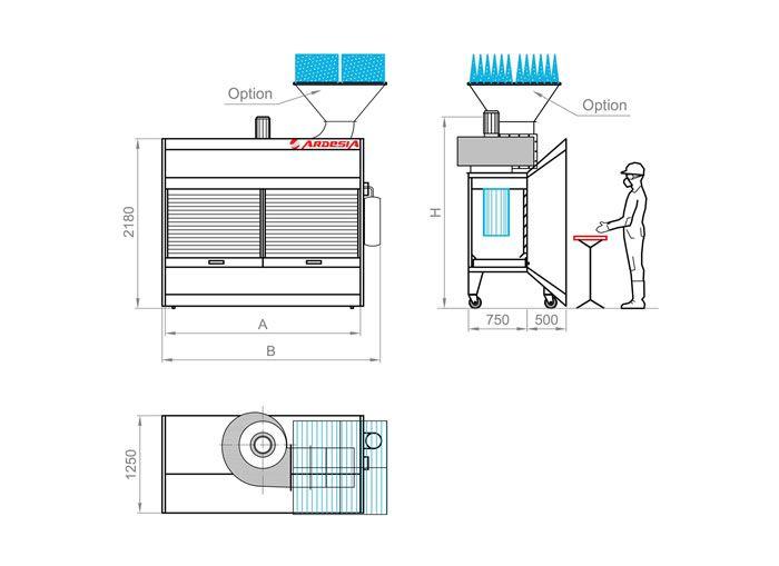 Dust Roller schema tecnico