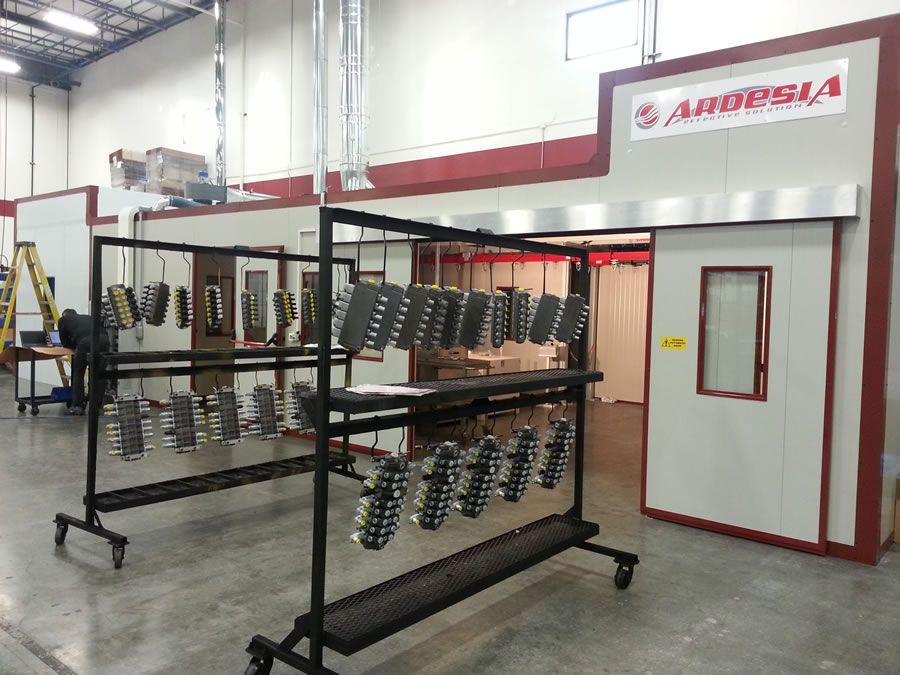Sistema di verniciatura semi automatico Walvoil (Tulsa Oklahoma USA) - Progetti Ardesia