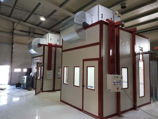 Impianto doppia cabina di verniciatura pressurizzata S.C. High Tech Tecnosky (Romania) - Progetti Ardesia